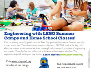 Play-Well.Org: Science, Tech, Robotics Summer Camps & Classes - Various Locations, CA