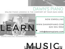 Dawn's Piano Lessons - Online