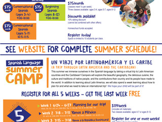 Spanish Enrichment Classes - Chino, CA (contact them for updated flyer)