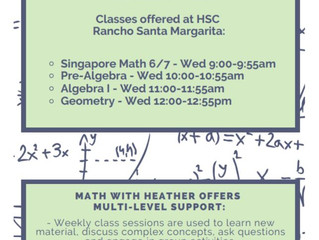 Math Programs - Rancho Santa Margarita, CA (outdated flyer, contact for updated info)