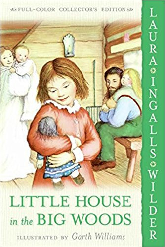 """Book cover for """"Little House in the Big Woods"""""""
