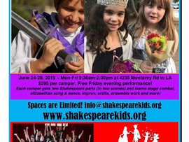 Shakespeare Summer Camp - Various Locations