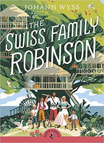 """Book cover for """"The Swiss Family Robinson"""""""