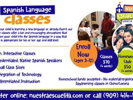 Nuestra Escuelita Spanish Academy Language Classes - Chino/Corona, CA & Online