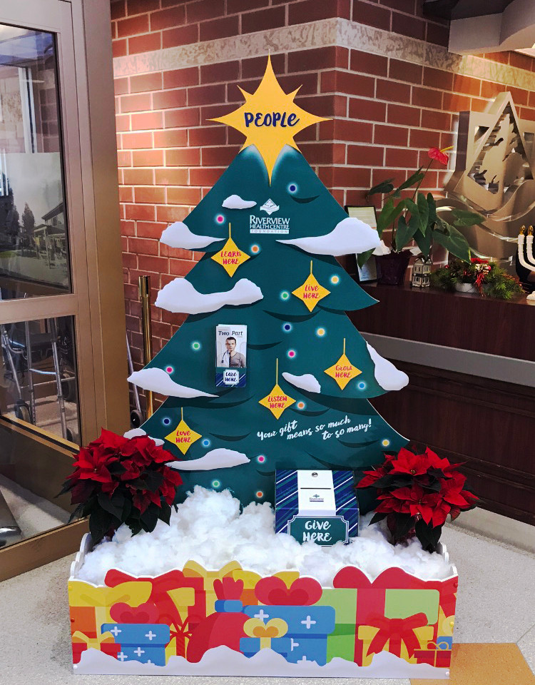 Custom Christmas Tree Donation Display
