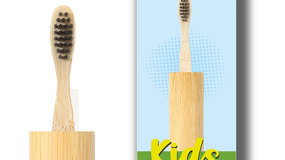 Rusabl Kids Bamboo Toothbrush with CASE