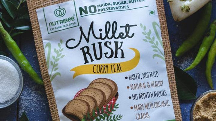 Nutribee - Millet Rusk - Curry Leaf