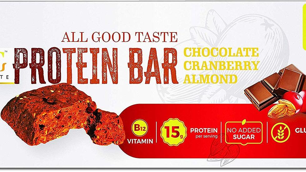Protein Bar -Chocolate Cranberry Almond