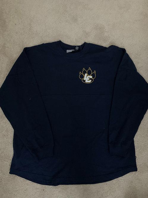 Women's Navy Jersey Style Shirt