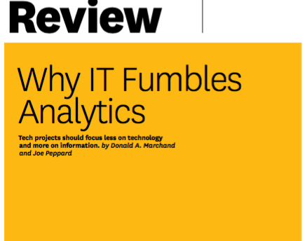 Why IT Fumbles Analytics by HBR
