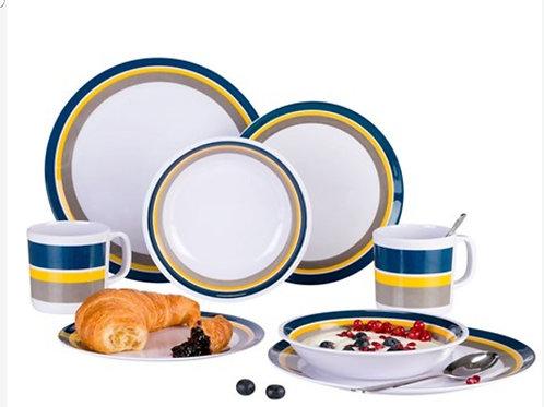 Berger Melamin 2 Kişilik 8 Parça Yemek Seti