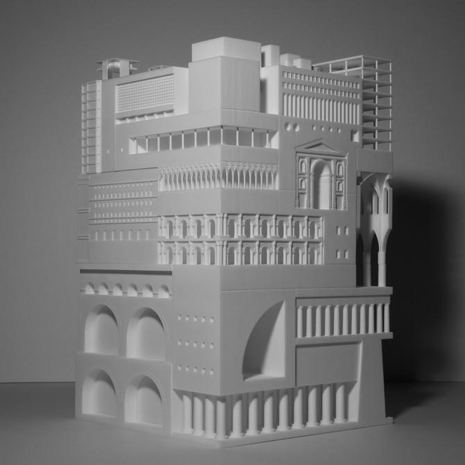 Más de 30 proyectos arquitectónicos son representados en un único objeto 3D