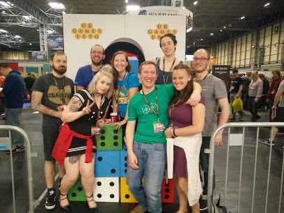 Picture of the team at the expo