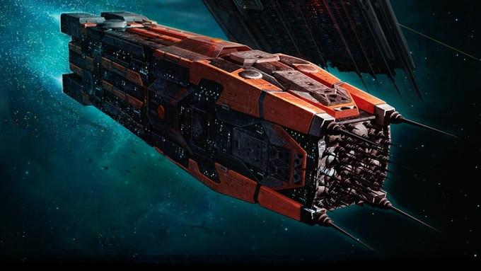 Expanse spaceship art