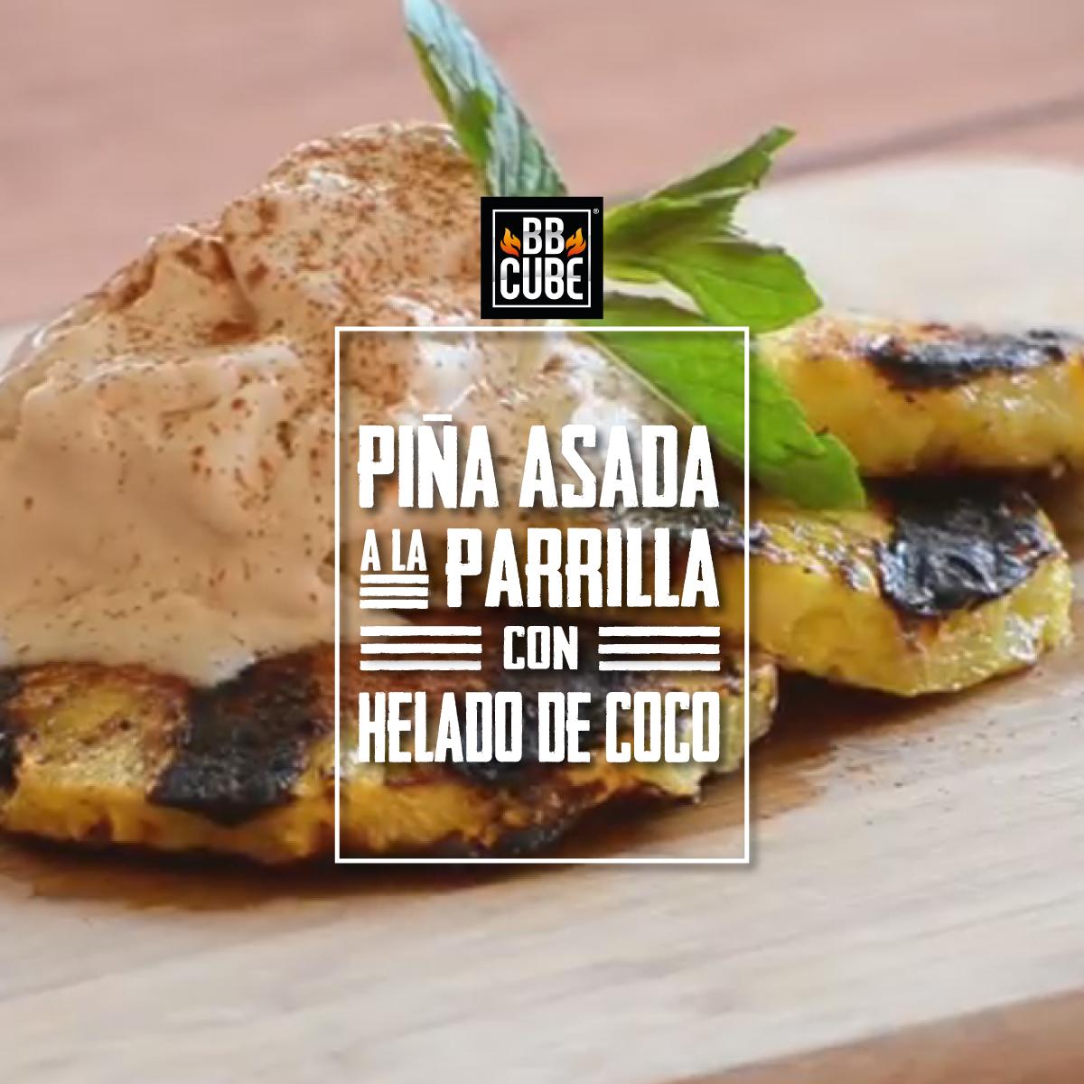 Piña-Asada-a-la-Parrilla-con-Helado-de-C