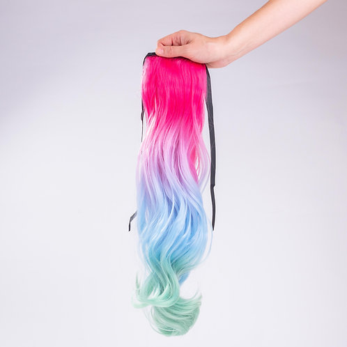 Fantasy Me -  Curly Ombré Ponytail Hair Extension Clip In