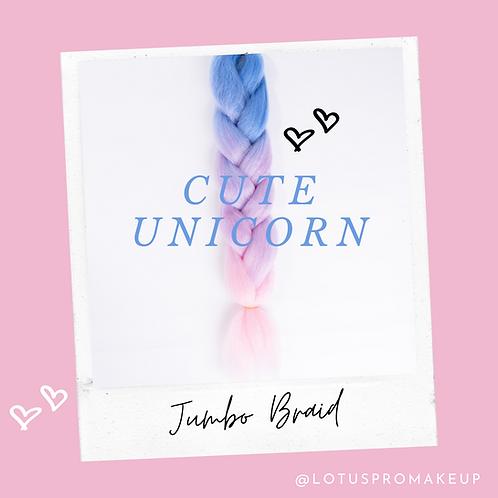 Cute Unicorn Jumbo Braid
