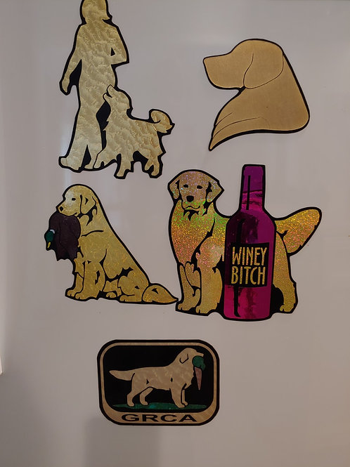 5 Golden Retriever Magnets
