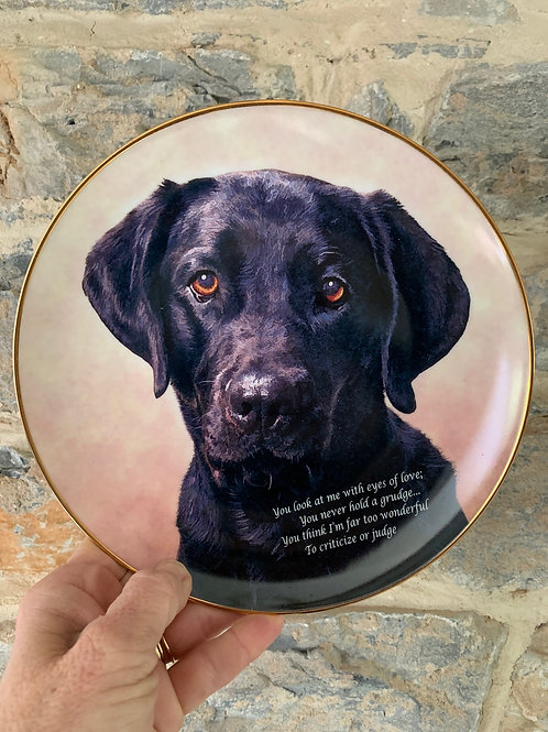 Black Lab Puppy Plate