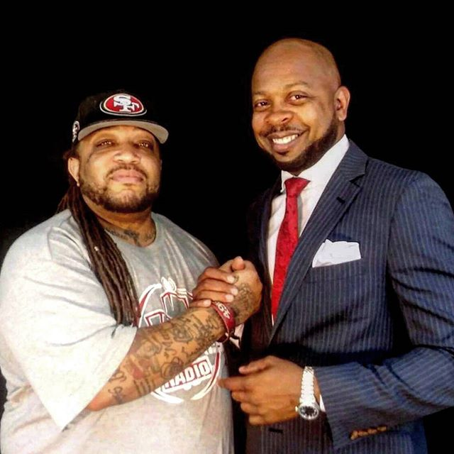 8 Squad Rebel Radio co-owner Big Zay with the Chief of Staff Mr