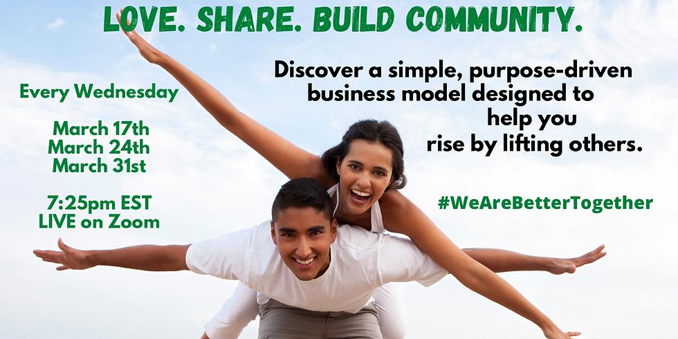 Love. Share. Build Community.