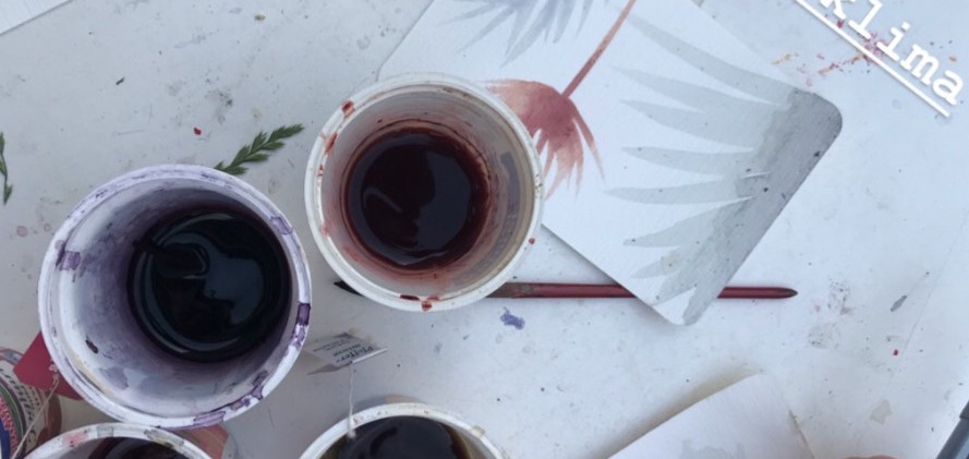 Water Colors from Plants - painting with plants