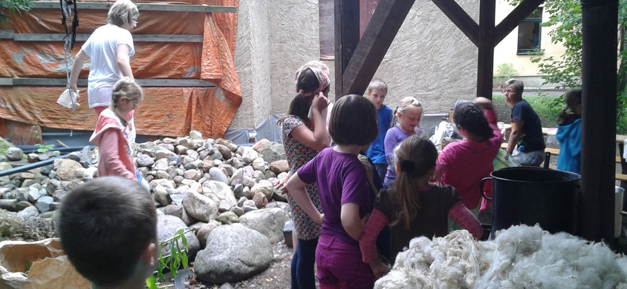 Natural Dyeing with kids