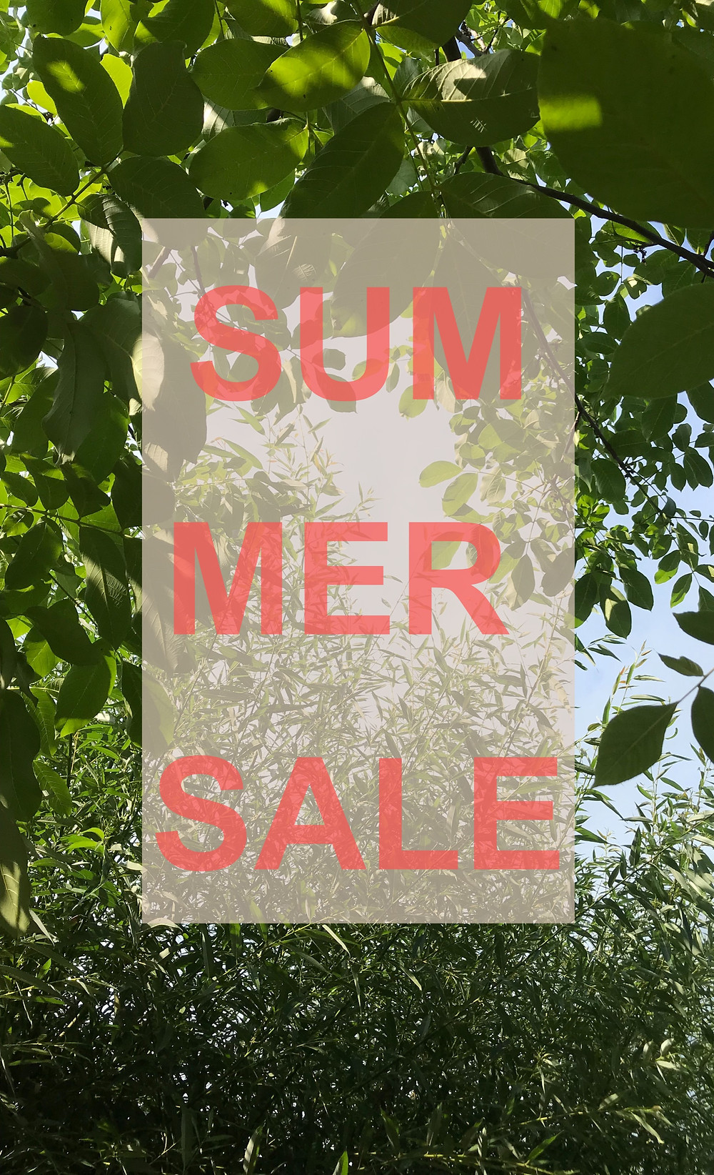Summer Sale on our sustainable clothing