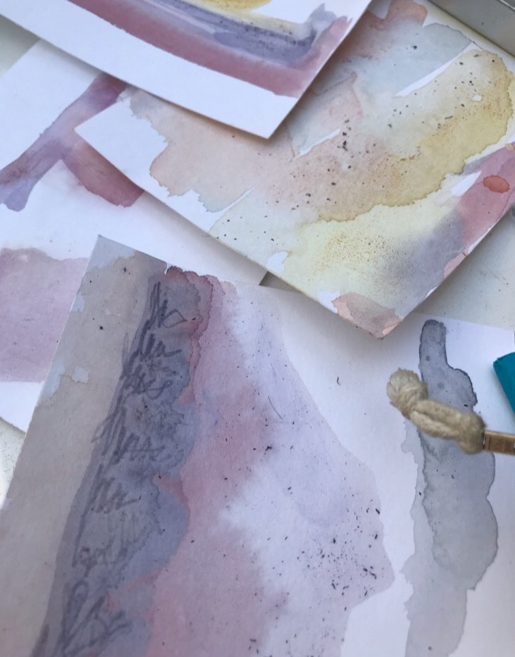 Plant Water Color paintings
