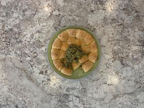 Easy Cheese Dots™ Pull-Apart + Leek Crema