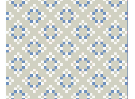 Colouring Quilts: Forget-me-not
