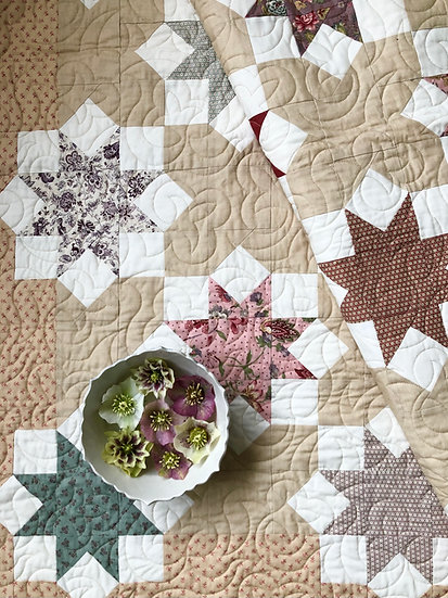 Lentern Rose Paper Pattern