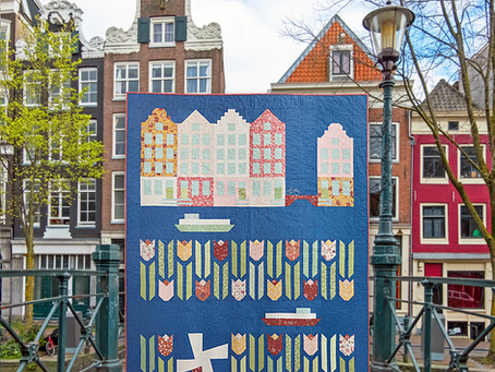 Tulips from Amsterdam summer quilt along...