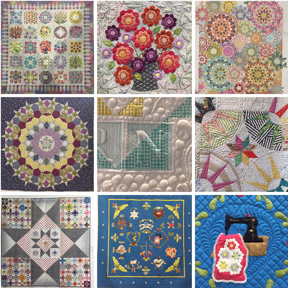 cakestand quilts exhibiting at the festival of quilts