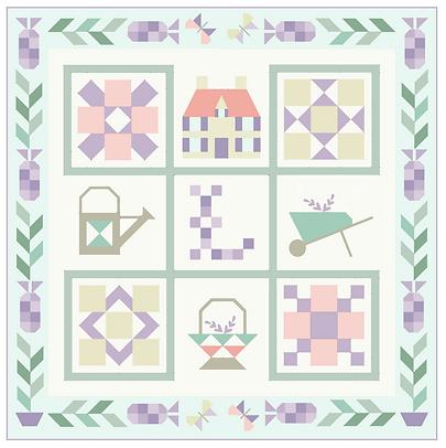 Le Jardin de Lavande sampler quilt graph