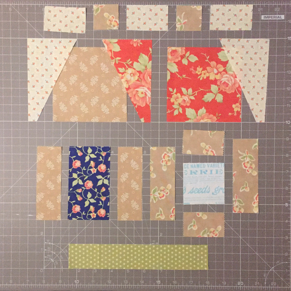 cakestand quilts shed block