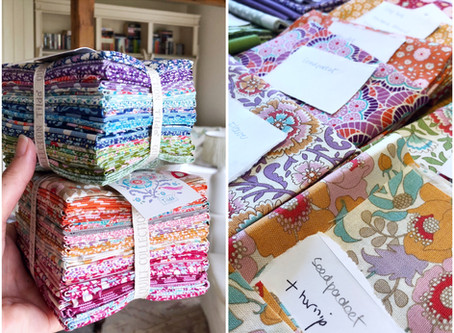 The Kitchen Garden: choosing fabric...