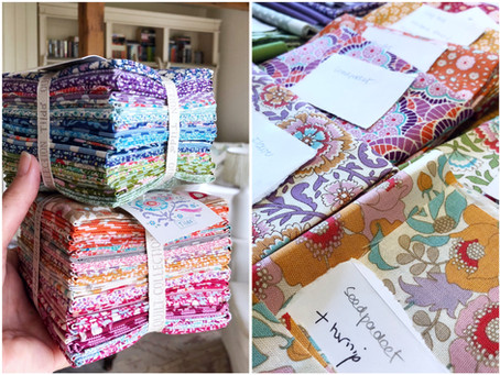 The Kitchen Garden: choosing fabric...