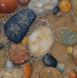 Pastel Painting - Sea Rocks