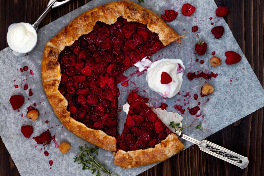 Raspberry Basil Galette