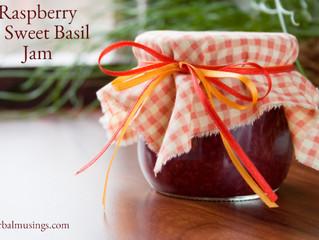 Raspberry & Sweet Basil Jam