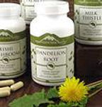 Organic herbal supplements and remedies.