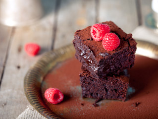 Chia Espresso Brownies