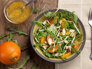 Arugula & Mandarin Salad with Toasted Almonds