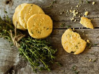 Thyme, Cardamom & Orange Shortbread Cookies