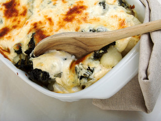 Baked Gnocchi with Spinach, Nutmeg & Thyme