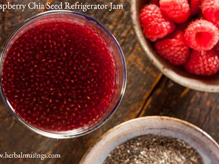 Raspberry Chia Seed Refrigerator Jam