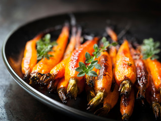 Maple Glazed Carrots with Thyme