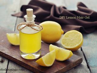 DIY Lemon Hair Gel