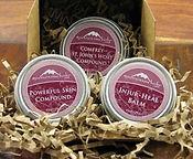 Organic herbal salves and balms.